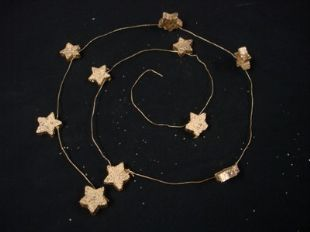 3 x  WOODEN STAR WIRE GARLAND CHRISTMAS TREE DECORATION